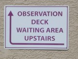 Observation deck waiting area upstairs