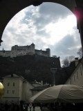 Fortzaleza de Hohensalzburg desde la Domplatz