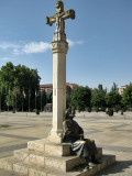 León. Plaza de San Marcos, Monumento al Peregrino
