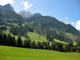 View from the train:Gstaad to Montreux