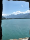 Lac Leman seen from the Chillon Castle