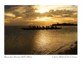 Diamond Head from Maunalua Bay with Sunset Paddlers