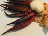 Red Okra (Abelmoschus esculentus)