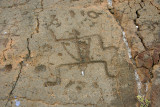 Man petroglyph