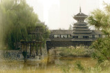 The Bridge and the Pond.Ethnic Cultural Park