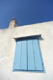 White, light blue, blue