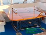Tavolo per barca inox aisi 316 e legno - arredo nautico