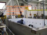 Grande vasca calidarium idromassaggio inox su disegno
