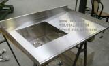 top inox con vasca inox costruito a misura firenze