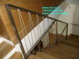 parapetto inox protezione scala costruito su disegno