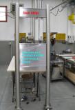 Paline inox per fermata bus costruiti su misura in acciaio inox