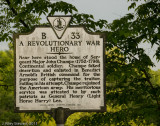 Historic Marker, Champe's Ford Road