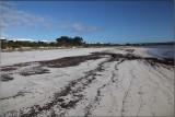 Wide white beach
