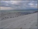 Quiet beach at dusk