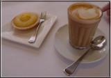 Lemon tart and latte
