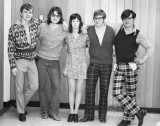 SCS Student Council L-R: John Roxburgh, Bill Sparks, Lois Fleming, Keith Quigg, and Roy Bauslaugh