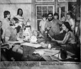 Toby Barrett teaching leather techniques at SOLE - summer of 1971