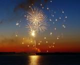 Fireworks & Sunset over Collingwood Harbour