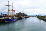 Collingwood Shipyards Side Launch Basin with Tall Ships - Aug 2012
