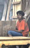Young woodcarver