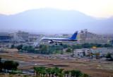 El Al Boeing 757/200 landing at Eilat at dawn