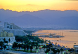View of Eilat and Aqaba at Sunrise