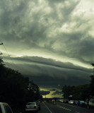 Arrival of a huge thunderstorm.