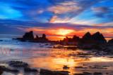 Fiery Coastal Sunset