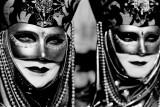 Carnival in Venice - B&W Portraits