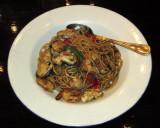 Spicy seafood spaghetti at Hard Rock Cafe