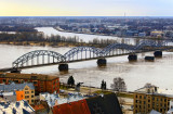 Dzelzceïa tilts pâr Daugavu (The railway bridge over the Daugava)