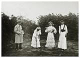 Kroketspil i Allinge ca. 1910.
