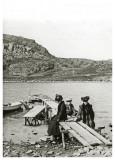 En anden dag ved Hammerhyttens bådebro ca. 1908