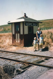 My family waiting for the train at the station on Cherry Hill road.  (in 1965).