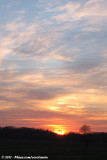 Sunset at Lac du Der