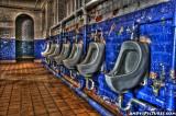 Urinals at Spider Stadium in Richmond in HDR