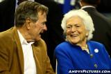 Former US President George Bush with wife Barbara