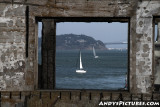 Window of San Francisco Bay from Alcatraz