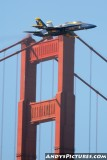 Blue Angels and the Golden Gate Bridge