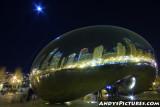 Chicago's Bean at Night