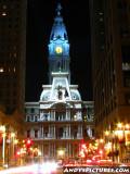 Philadephia's City Hall at Night