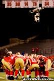 San Francisco 49ers offensive huddle