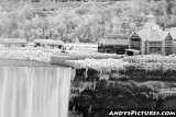Niagara Falls in Winter Monochrome