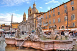 Fountain of Neptune with the Church of Sant'Agnese - Piazza Navona