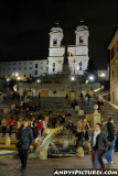 Spanish Steps at Night - Rome, Italy