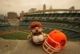 NFL Huddles: Cincinnati Bengals figure at Paul Brown Stadium in Cincinnati, OH