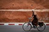 Cycling near Bab Agnaou, Marrakesh