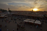 Jamaa el Fna sunset, Marrakesh