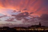 Beautiful sky colors at Jamaa el Fna