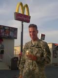 John at Kuwait McDonalds on way home for wedding